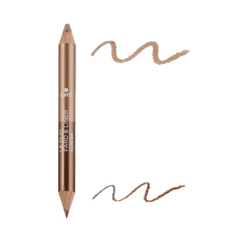 Duo fard & liner bronze cuivré / beige doré certifié BIO, Avril (2 g)