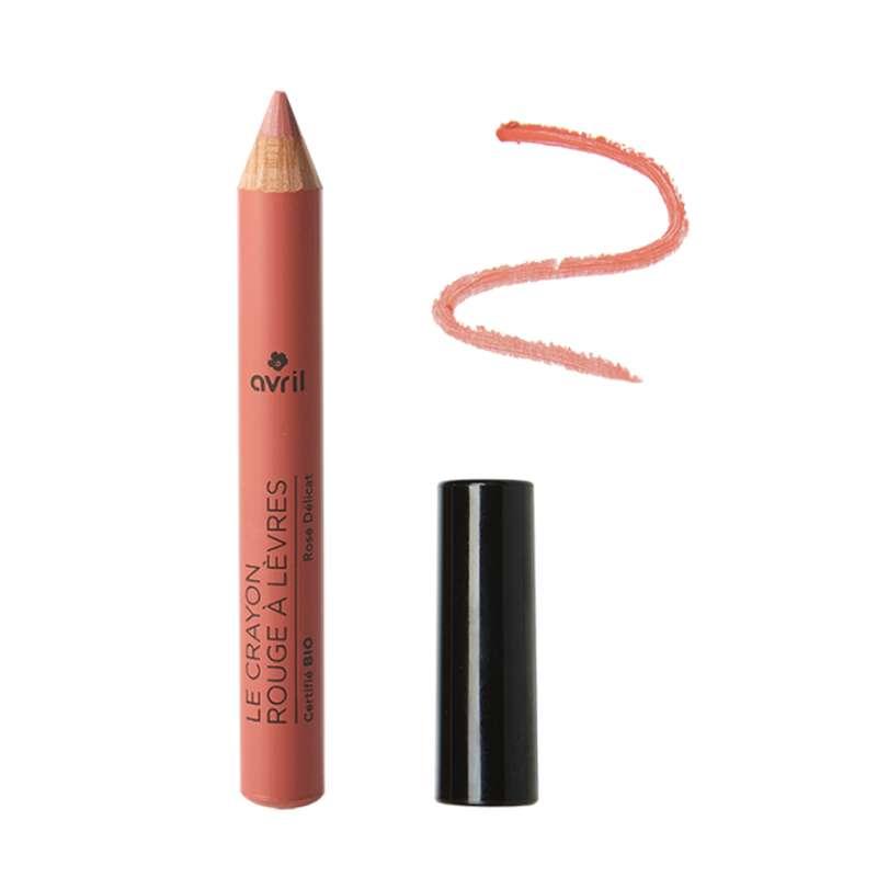 Crayon rouge à lèvres rose délicat certifié BIO, Avril (2 g)
