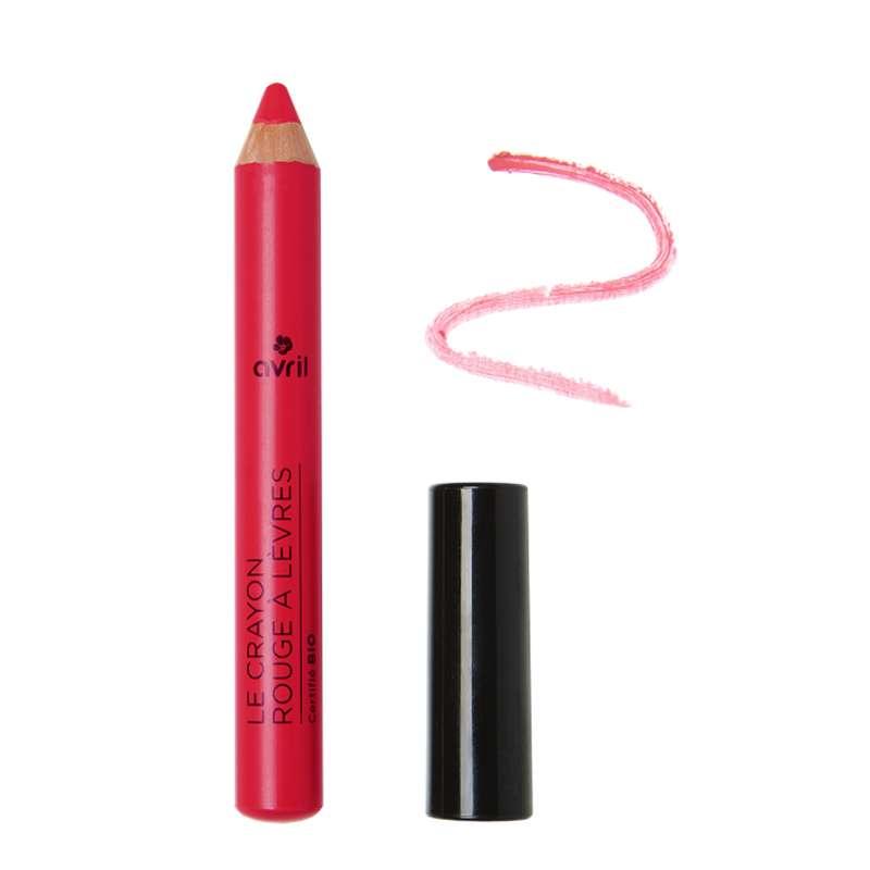 Crayon rouge à lèvres rose indien certifié BIO, Avril (2 g)