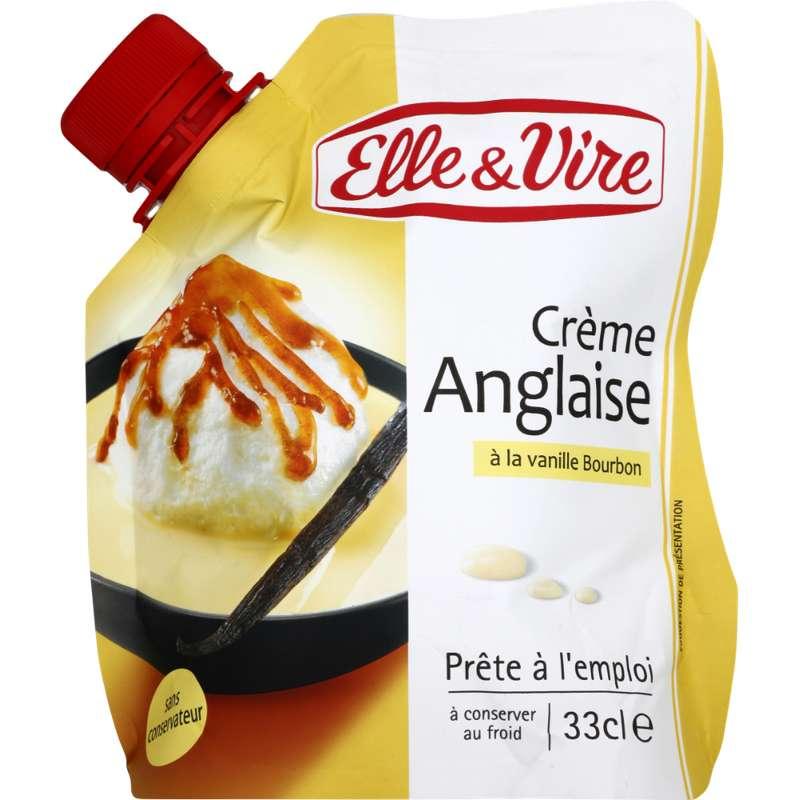Crème anglaise à la vanille, Elle & Vire (33 cl)