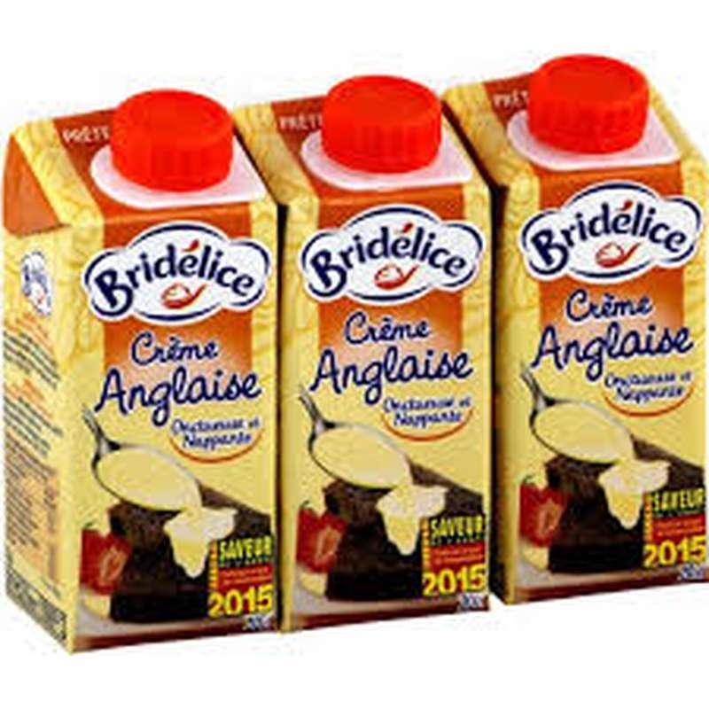 Crème anglaise, Bridélice (3 x 20cl)
