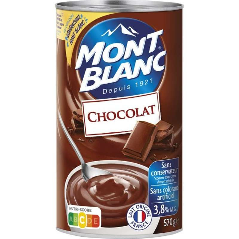 Crème chocolat, Mont Blanc (570 g)