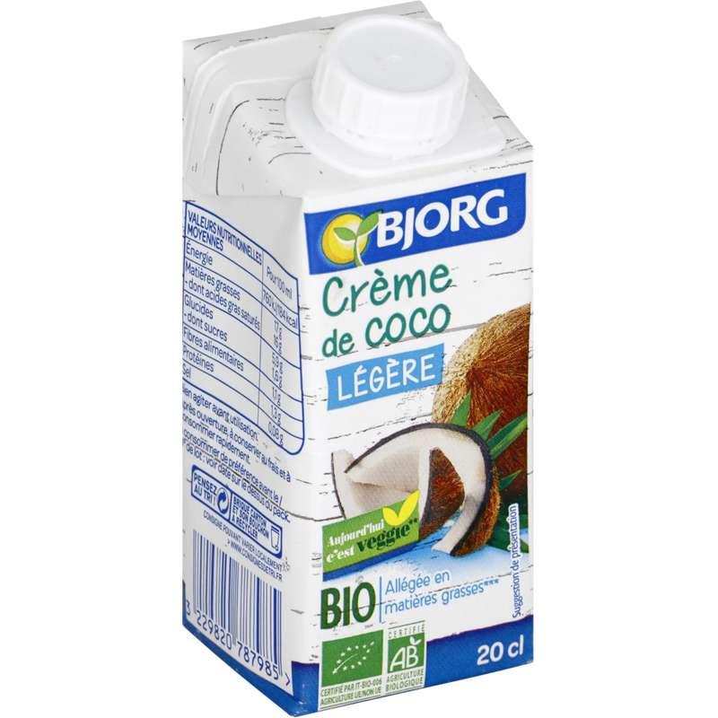 Crème de coco légère BIO, Bjorg (200 ml)