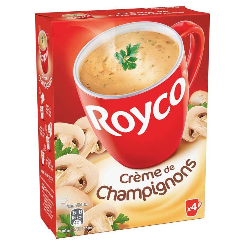 Crème de champignons instantané, Royco (4 x 20 cl)