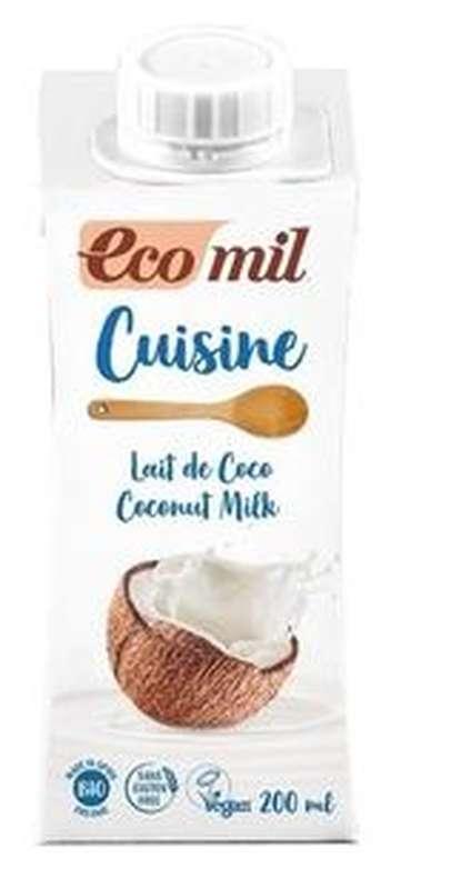 Crème de cuisine au lait de coco BIO, Ecomil (200 g)