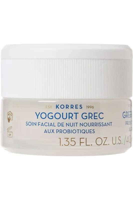 Crème de nuit hydratante aux Probiotiques & Yaourt grec, Korres (40 ml)