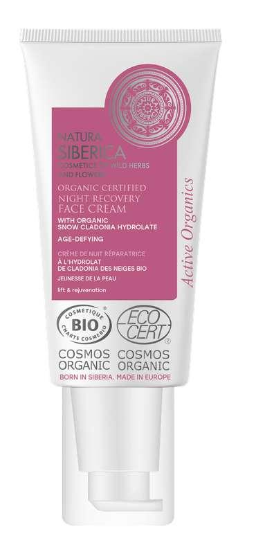 Crème de nuit réparatrice jeunesse de la peau à la Cladonia des Neiges BIO, Natura Siberica (50ml)