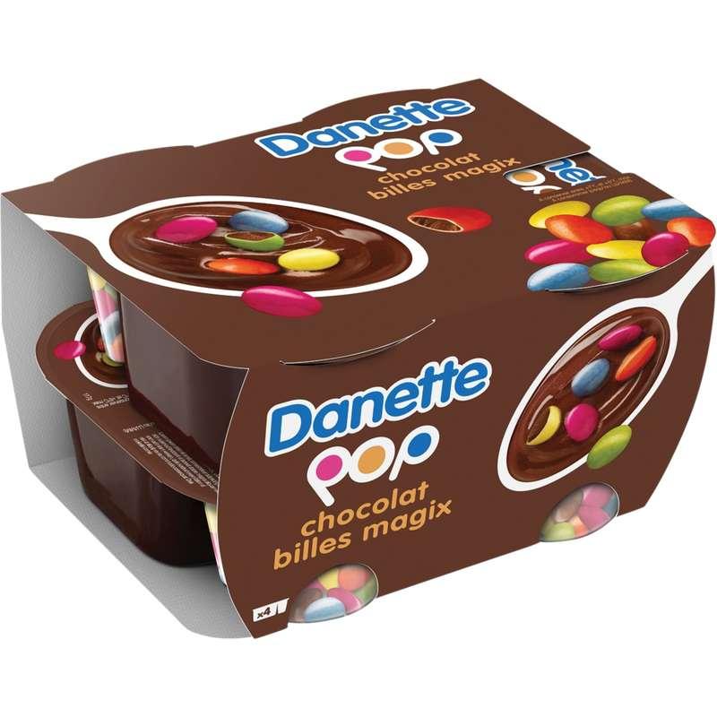 Danette pop chocolat billes magix (4 x 120 g)