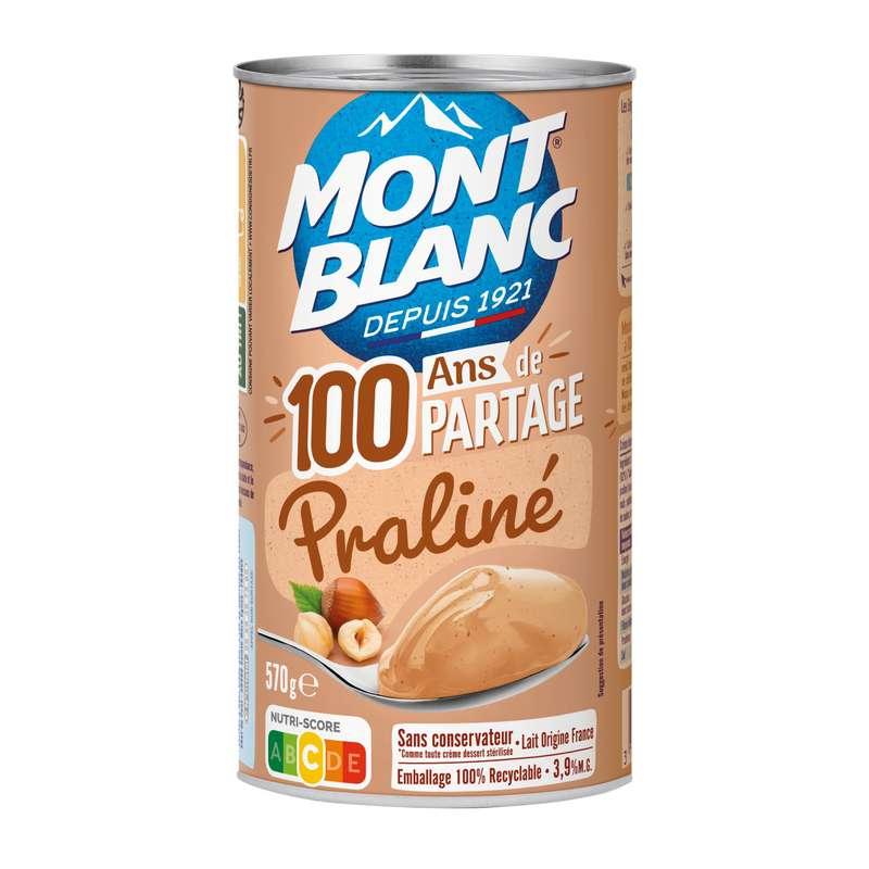 Crème dessert praliné, Mont blanc (570 g)