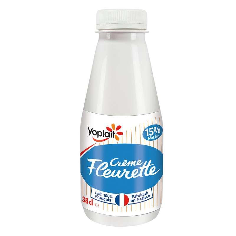 Crème Fleurette 15% de MG, Yoplait (38 cl)