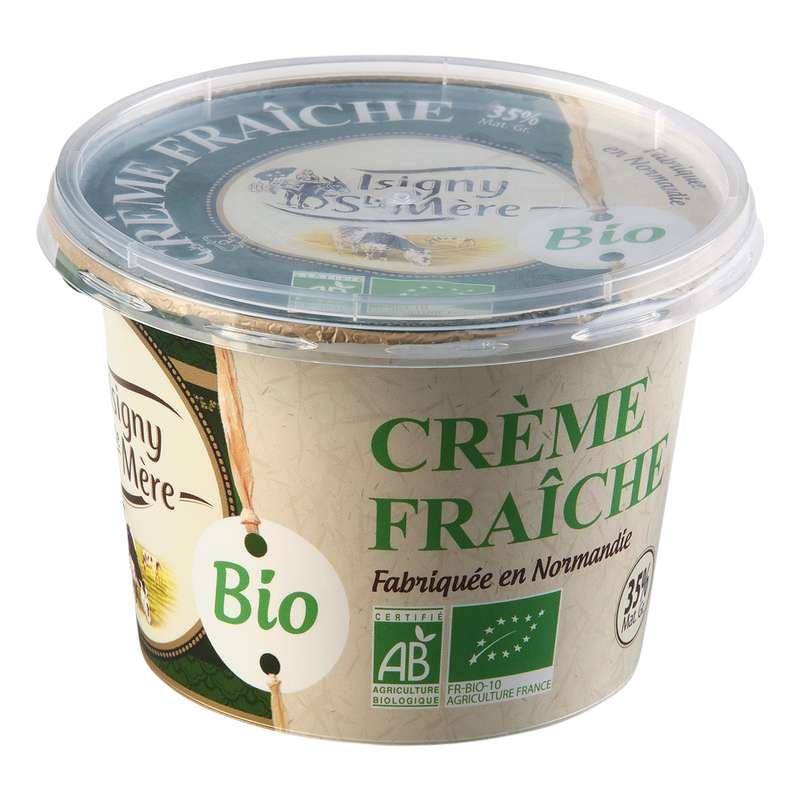 Crème fraîche BIO 35% MG, Isigny Ste Mère (20 cl)