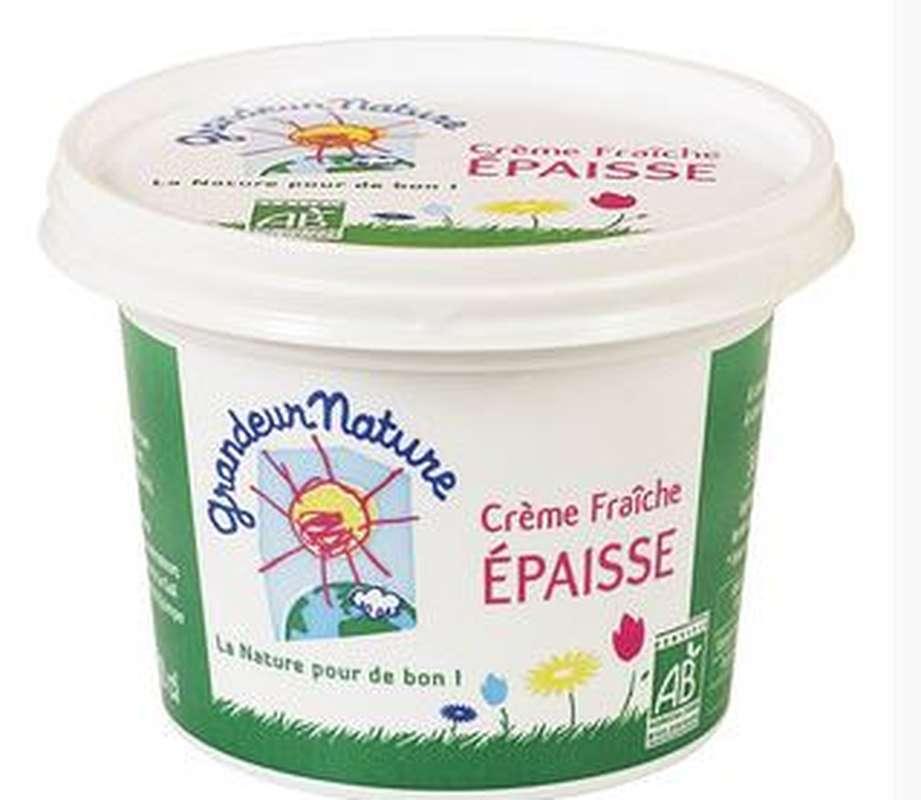 Crème fraîche épaisse 30% MG BIO, Grandeur Nature (20 cl)