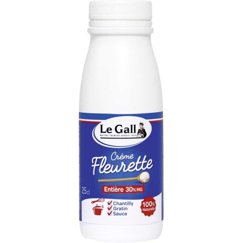 Crème fraiche fleurette 30% MG, Le Gall (25 cl)