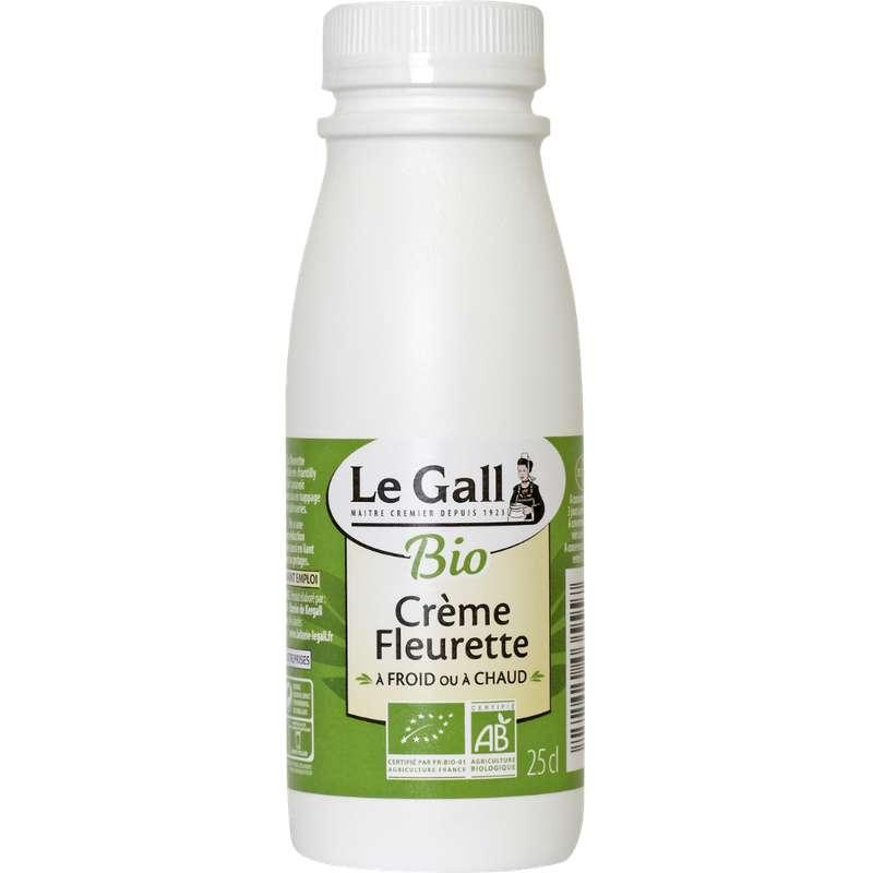 Crème fraîche fleurette 30% de MG BIO, Le Gall (25 cl)