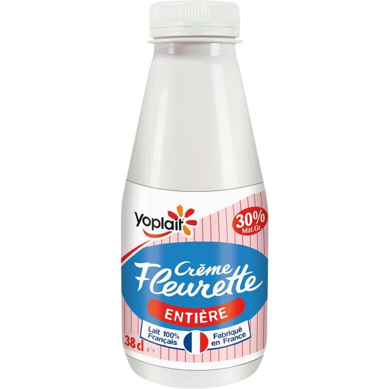 Crème Fleurette entière 30% de MG, Yoplait (38 cl)