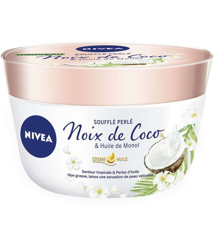 Crème huile de noix de coco & monoï, Nivea (200 ml)