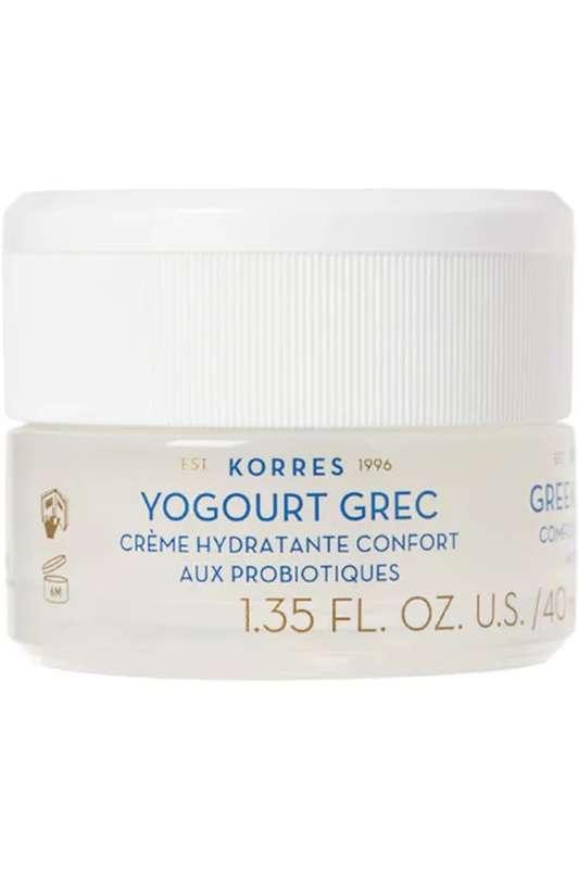 Crème hydratante confort Probiotiques & Yaourt Grec (peaux normales à mixtes), Korres (40 ml)