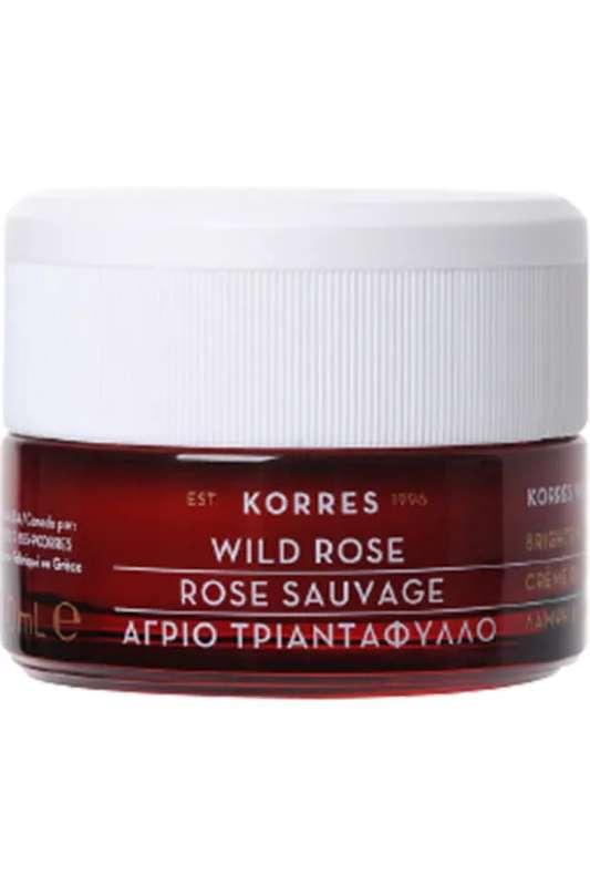 Crème hydratante, éclat & premières rides Rose Sauvage (peaux sèches), Korres (40 ml)