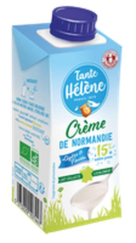 Crème légère UHT, fluide 15 % MG/PF BIO, Tante Hélène (20 cl)