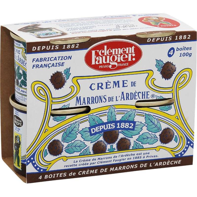 Crème de marrons de l'Ardèche, Clément Faugier (4 x 100 g, soit 400 g)