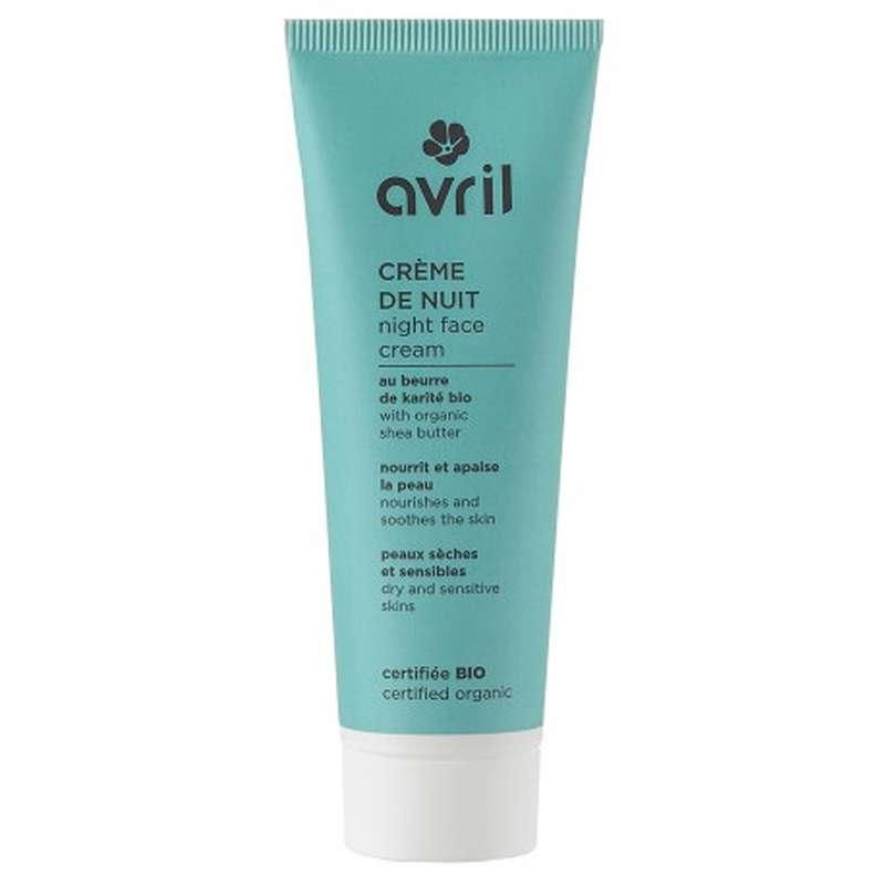 Crème de nuit peaux sèches et sensibles certifiée BIO, Avril (50 ml)