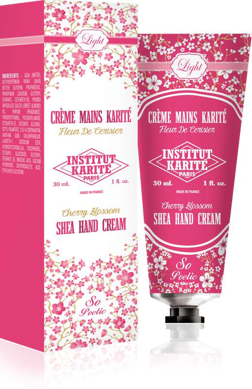 Crème pour les mains légère - Fleur de Cerisier, Institut Karité (30 ml)