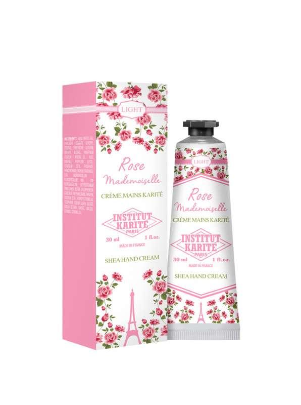 Crème pour les mains légère - Rose Mademoiselle, Institut Karité (30 ml)