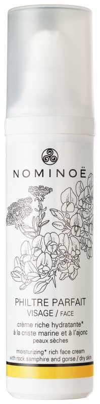 Crème riche hydratante visage Philtre Parfait BIO, Nominoë (50 ml)