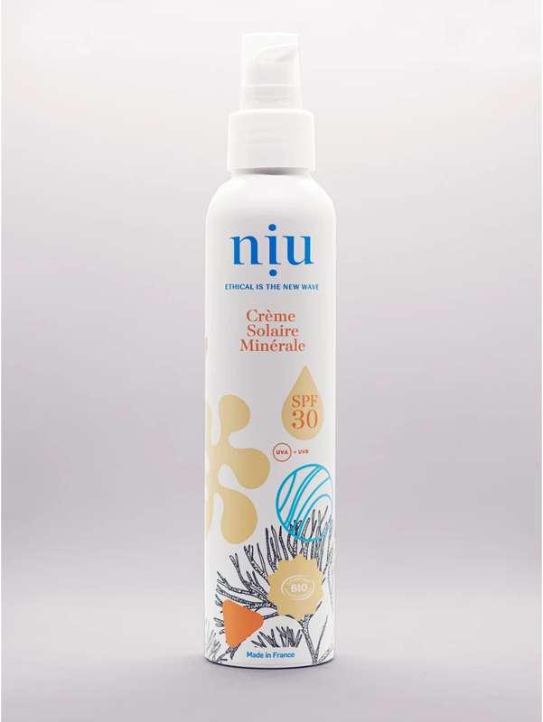 Crème solaire minérale SPF 30 BIO, Niu (100 ml)