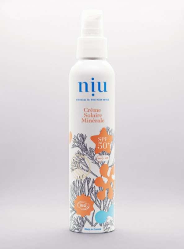 Crème solaire minérale SPF 50+ BIO, Niu (100 ml)