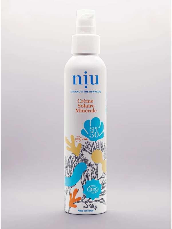Crème solaire minérale SPF 50 BIO, Niu (100 ml)