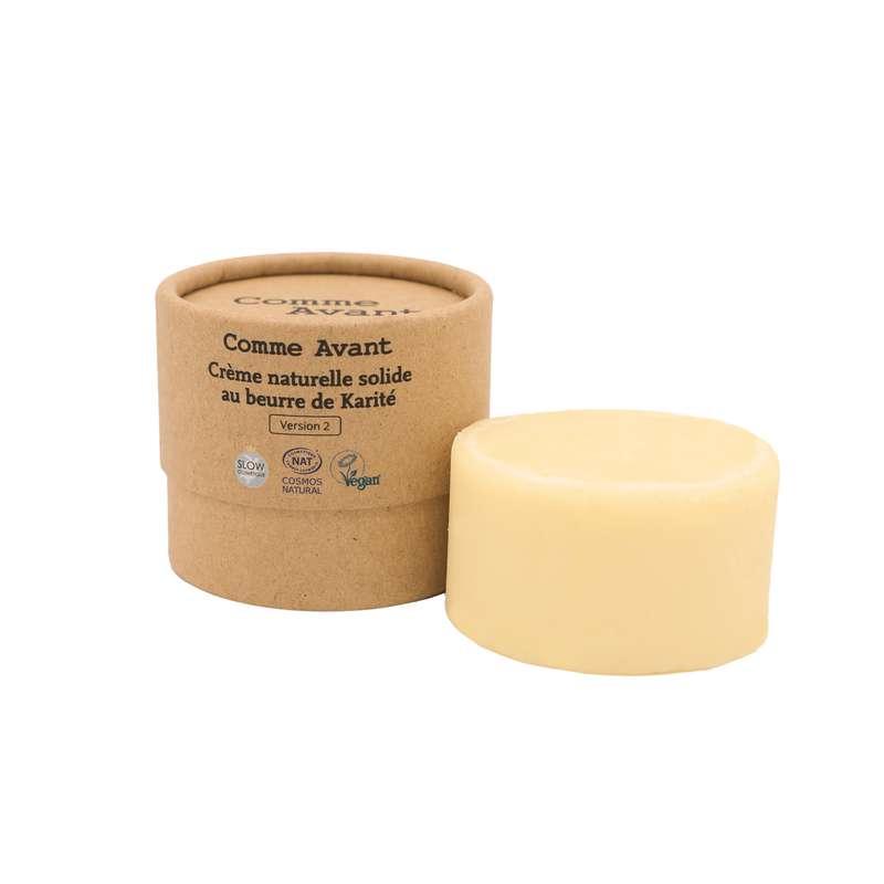 Crème solide au beurre de karité vegan BIO, Comme Avant (50 g)
