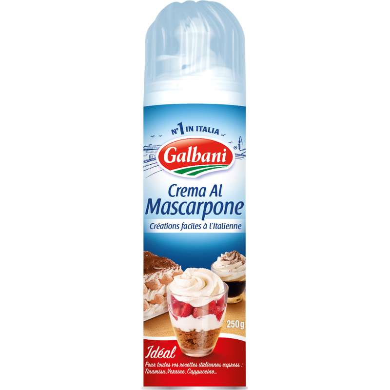 Crème au mascarpone sucrée, Galbani (250 g)