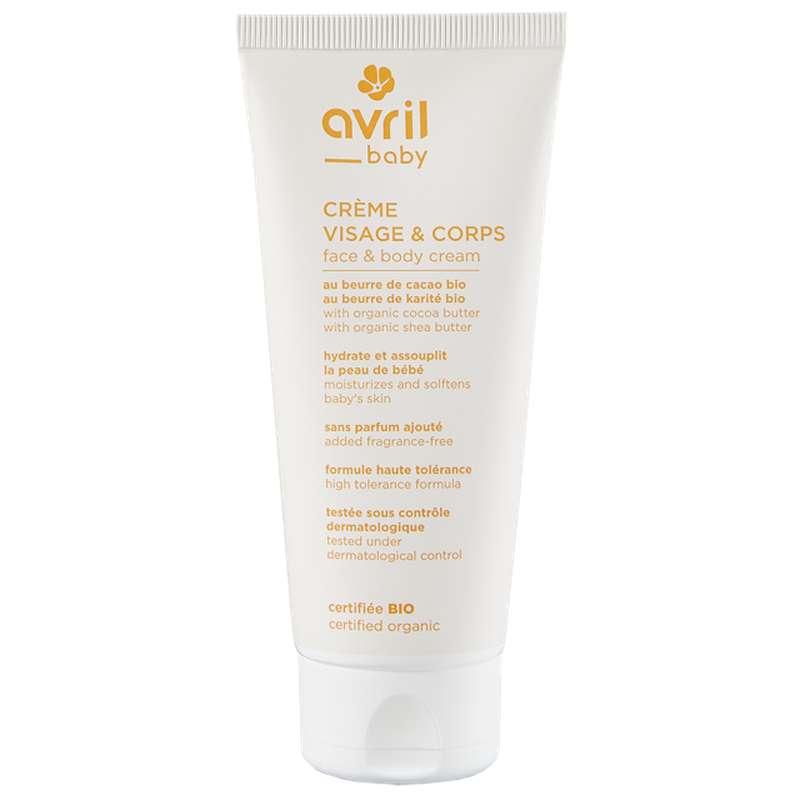 Crème visage & corps bébé certifiée BIO, Avril (100 ml)