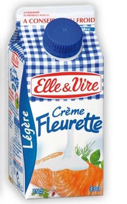 Crème Fleurette légère 12% de MG, Elle & Vire (33 cl)