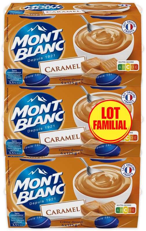 Crèmes dessert caramel, Mont blanc (LOT FAMILIAL 3 PACKS x 4 x 125 g)