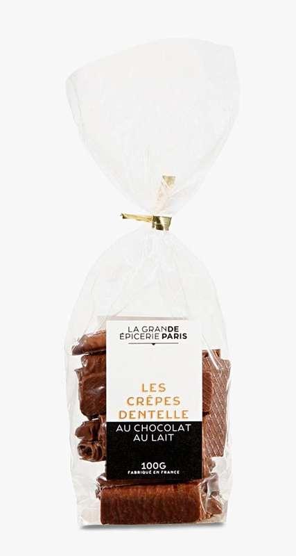 Crêpes dentelle au chocolat au lait, La Grande Epicerie de Paris (100 g)
