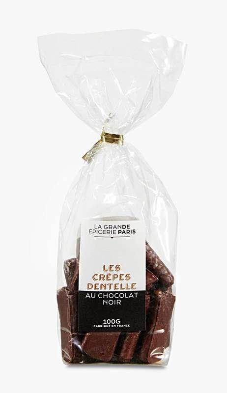 Crêpes dentelle au chocolat noir, La Grande Epicerie de Paris (100 g)