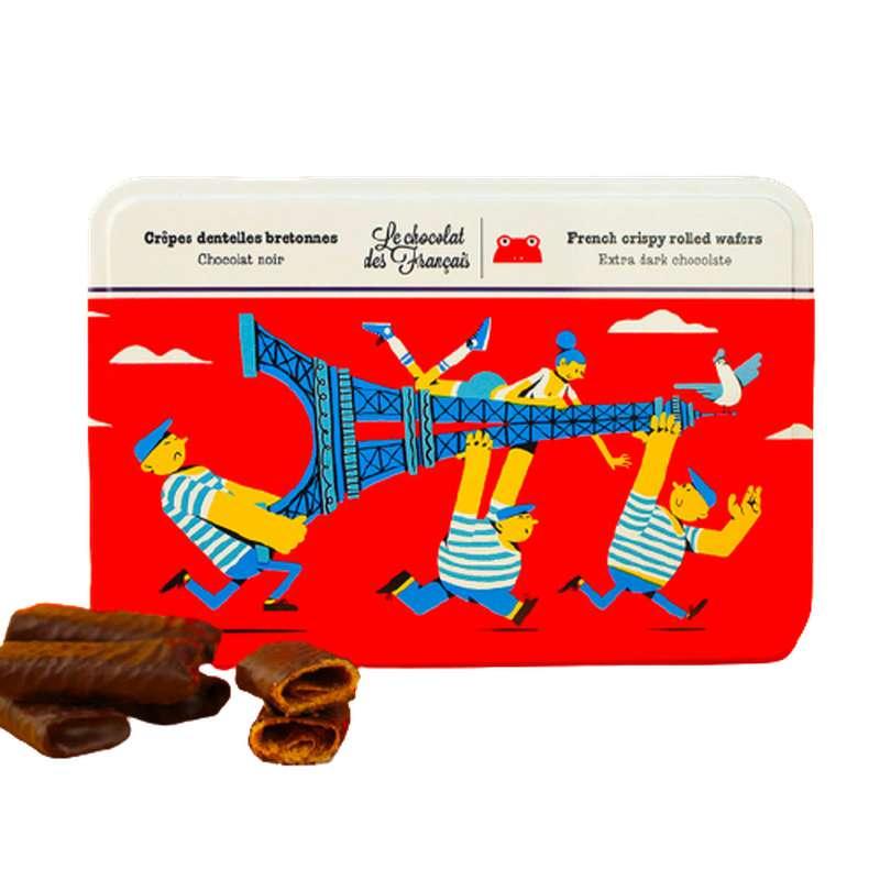 Crêpes dentelle nappées de chocolat noir, Le Chocolat des Français (90 g)