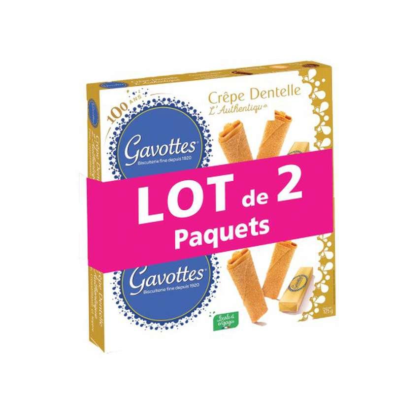Crêpes dentelles nature, Les Gavottes LOT DE 2 (2 x 125 g)