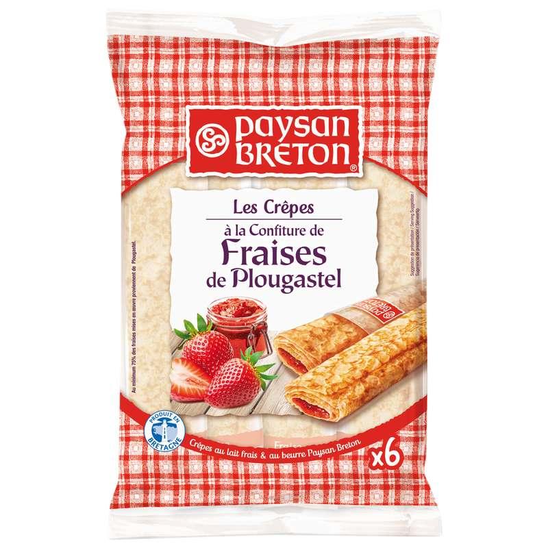 Crêpes fourrées à la confiture de fraises de Plougastel, Paysan Breton (x 6, soit 180 g)