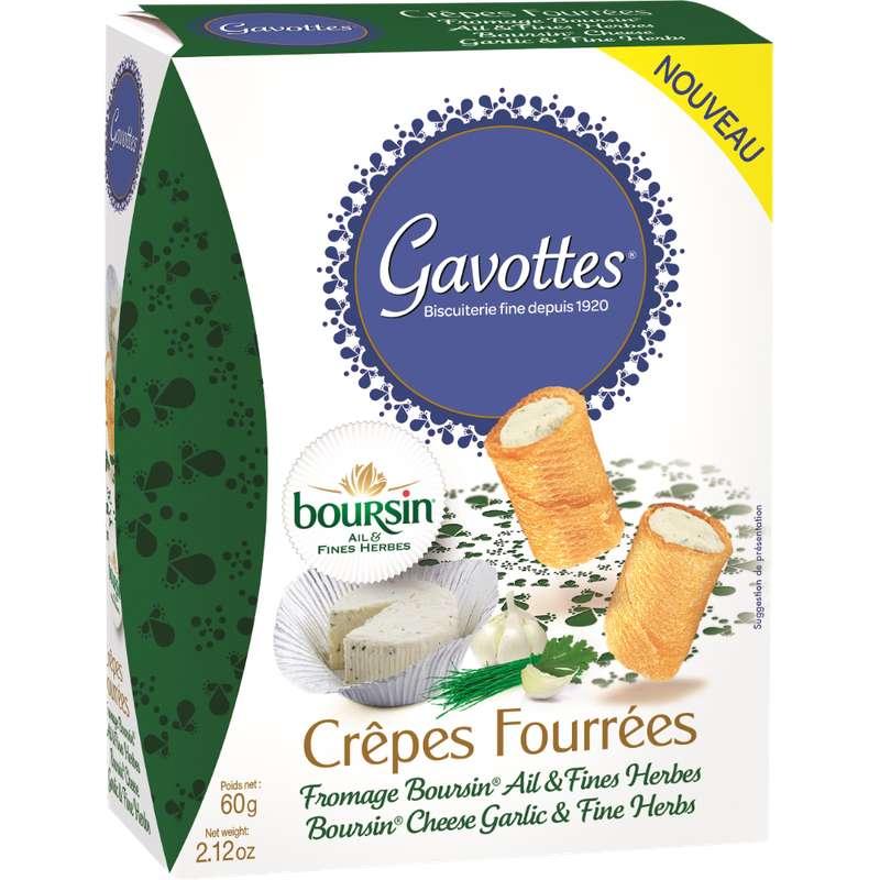 Crêpes fourrées au boursin, Gavottes (60 g)