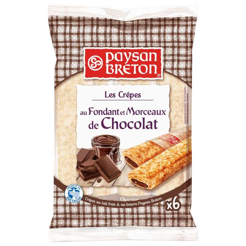 Crêpes fourrées au fondant et morceaux de chocolat, Paysan Breton (x 6, 180 g)