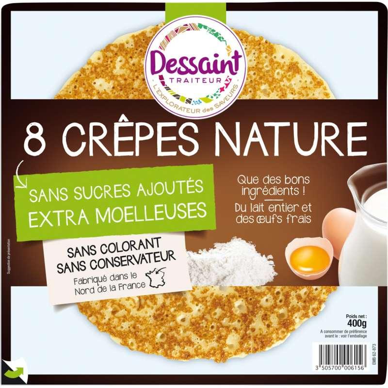 Crêpes natures moelleuses sans sucre ajouté, Daniel Dessaint (x 8, 400 g)