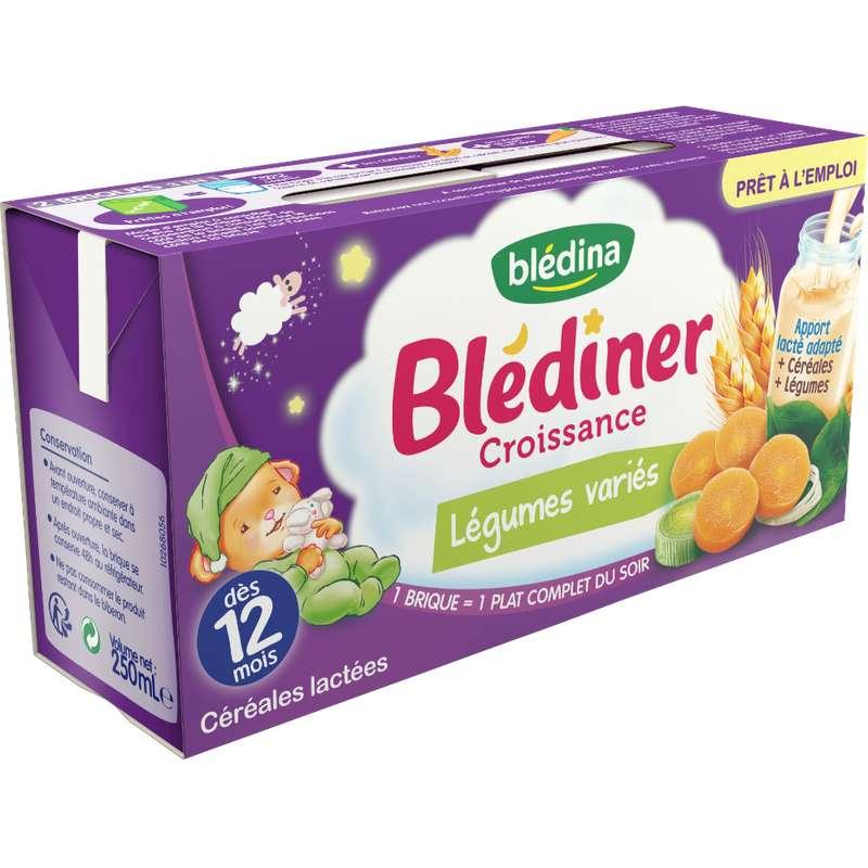 Blédiner croissance légumes variés - dès 12 mois, Blédina (2 x 250 ml)