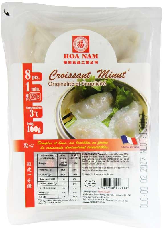 Croissants Minut' 8 pièces, Hoanam (160 g)