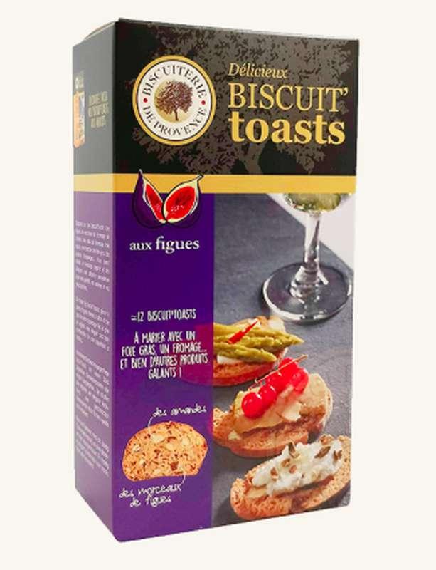 Biscuit'Toasts aux figues, Biscuiterie de Provence (120 g)
