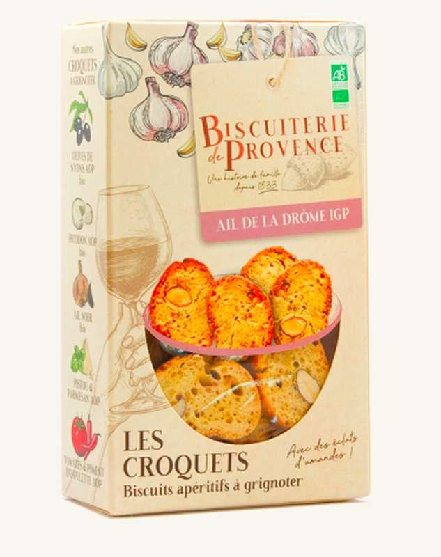 Croquets de Provence à l'ail de la Drôme BIO,  Biscuiterie de Provence (90 g)