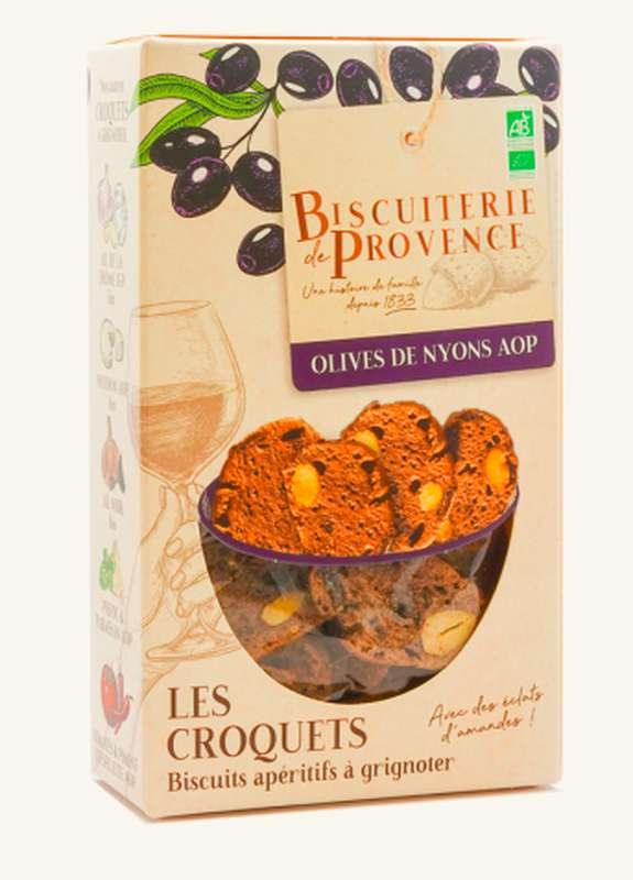 Croquets de Provence aux Olives de Nyons AOP BIO,  Biscuiterie de Provence (90 g)