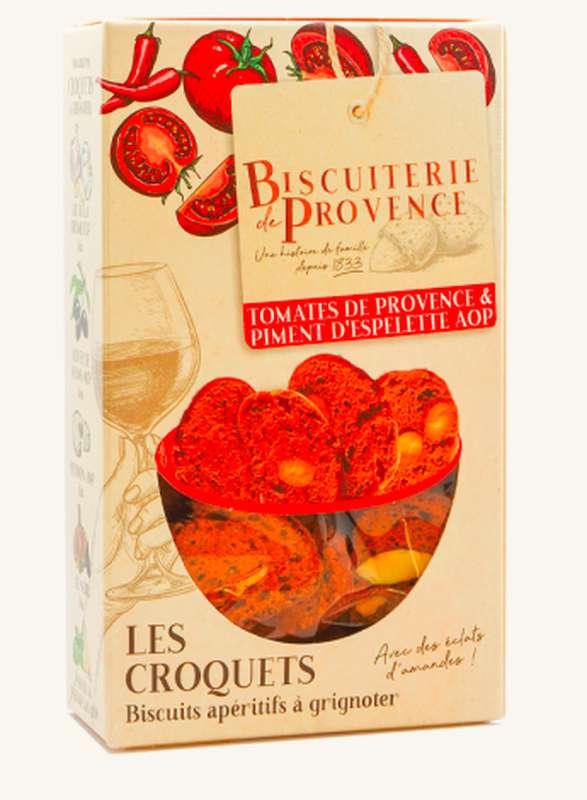 Croquets aux Tomates de Provence & Piment d'Espelette AOP,  Biscuiterie de Provence (90 g)